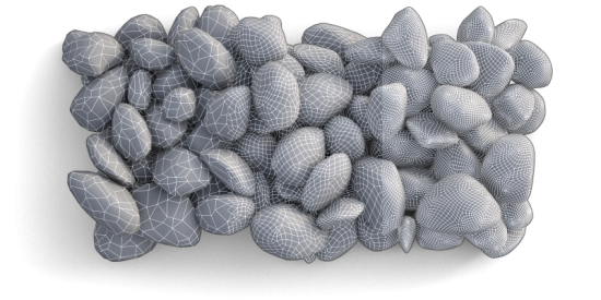 Gravel #1, Poly Count